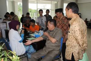 Dubes Indonesia untuk Mesir Ikut Donor