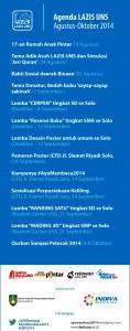 Agenda LAZIS UNS Agustus-Oktober 2014 : dari 17-an sampai Qurban