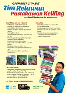 Open Recruitment Tim Relawan Pustakawan Keliling