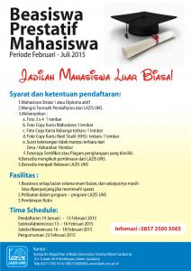"""Pendaftaran Program """"Beasiswa Prestatif Mahasiswa"""" 2015"""
